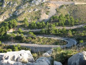 Silnice v okolí městečka Andratx