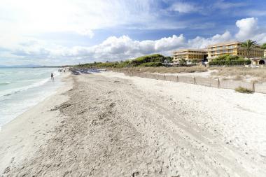Mallorca s pláží Playa de Muro